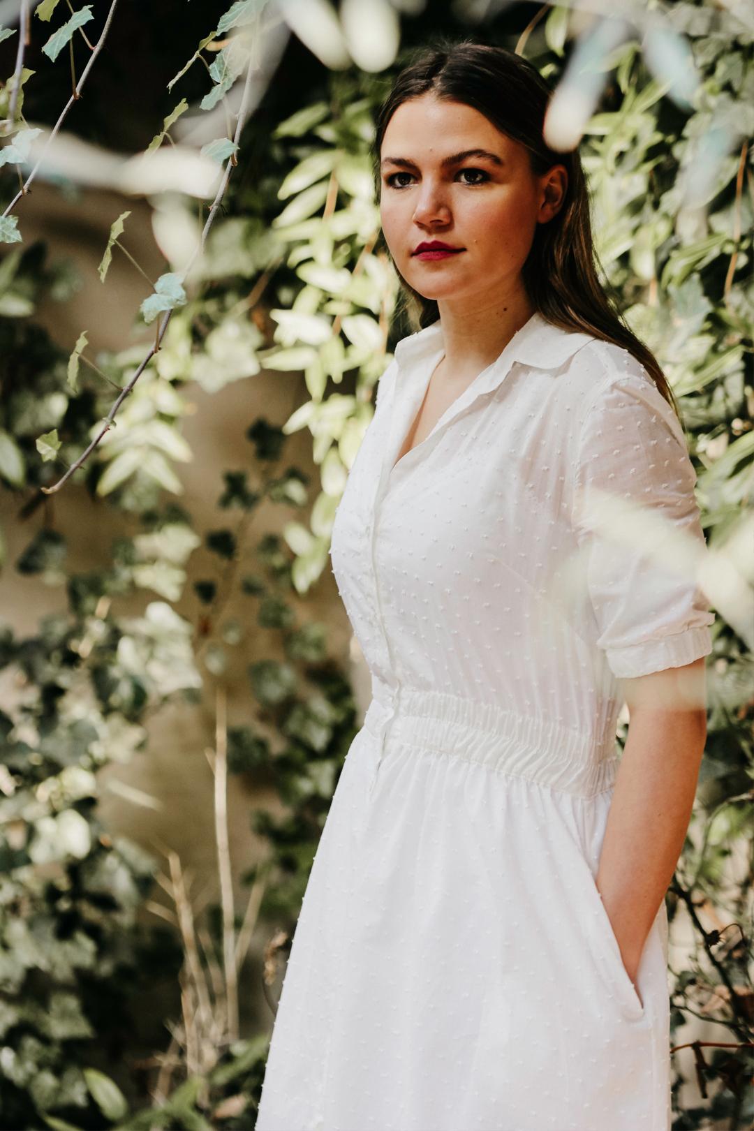 Jan Jurk | Wit zomer jurkje met kant from Sûr Atelier
